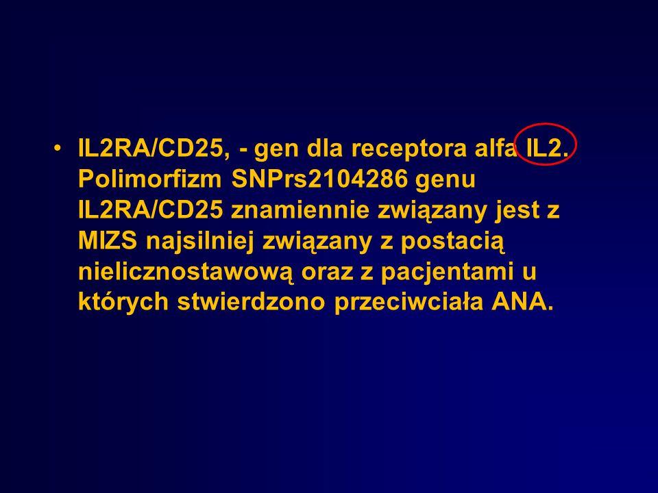 IL2RA/CD25, - gen dla receptora alfa IL2