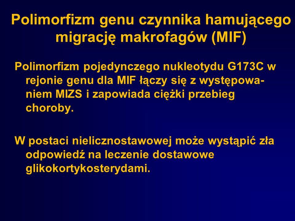 Polimorfizm genu czynnika hamującego migrację makrofagów (MIF)