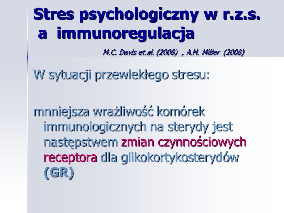 Stres psychologiczny w r. z. s. a immunoregulacja. M. C. Davis et. al
