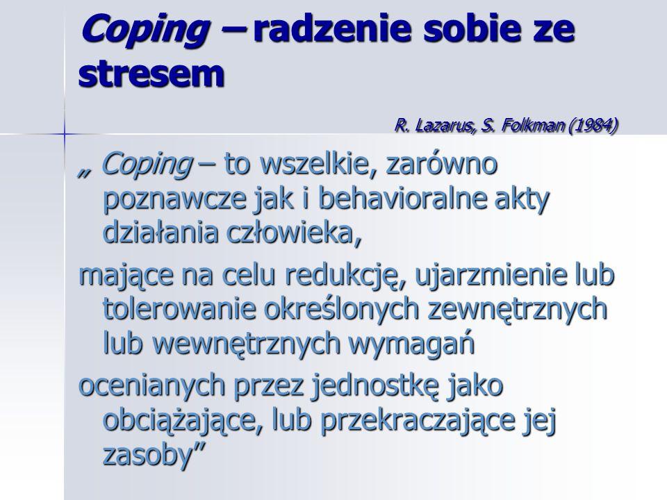 Coping – radzenie sobie ze stresem R. Lazarus, S. Folkman (1984)