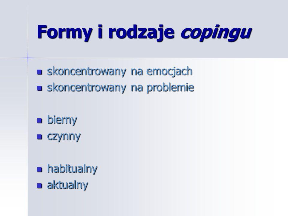 Formy i rodzaje copingu
