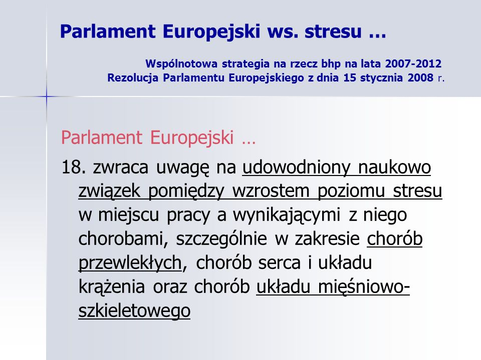 Parlament Europejski …