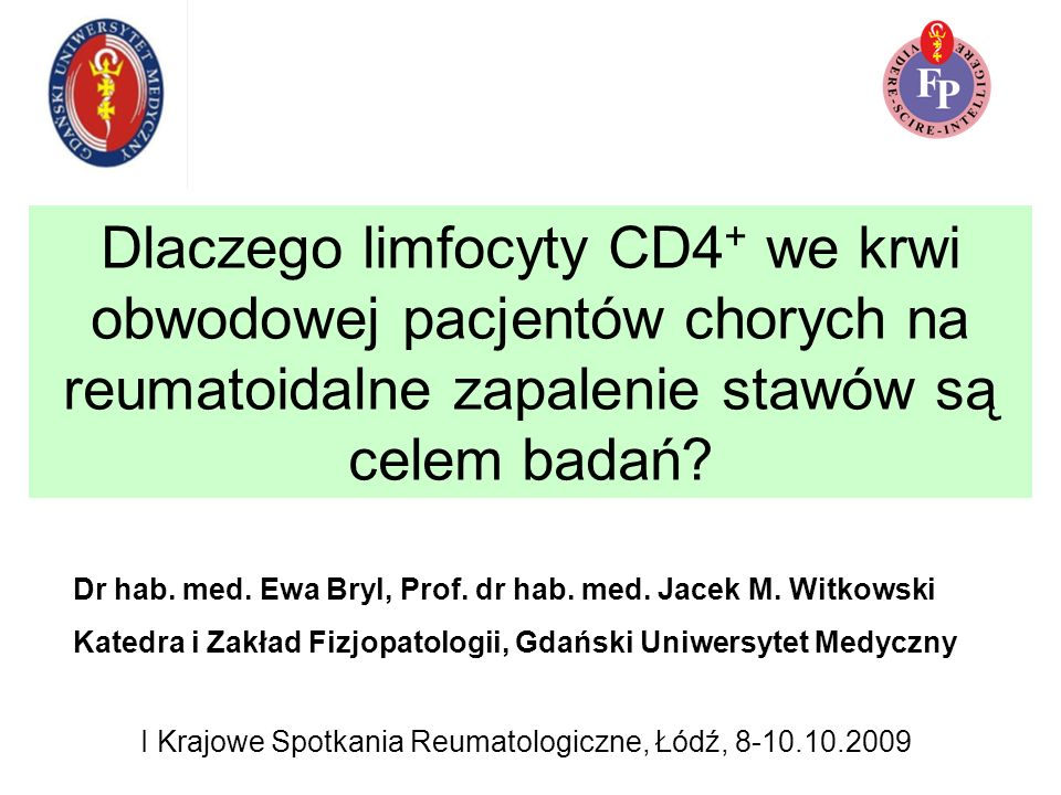 I Krajowe Spotkania Reumatologiczne, Łódź, 8-10.10.2009
