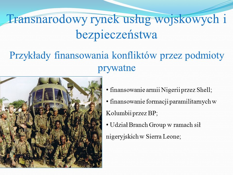 Transnarodowy rynek usług wojskowych i bezpieczeństwa
