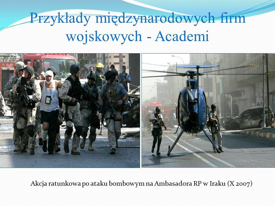 Przykłady międzynarodowych firm wojskowych - Academi