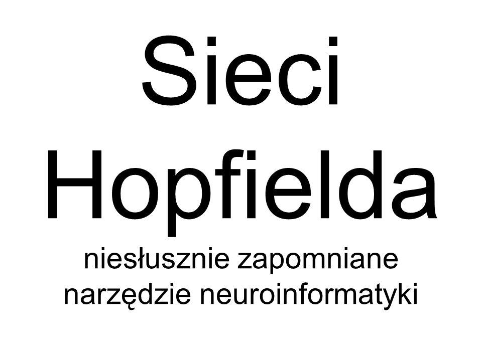 Sieci Hopfielda niesłusznie zapomniane narzędzie neuroinformatyki