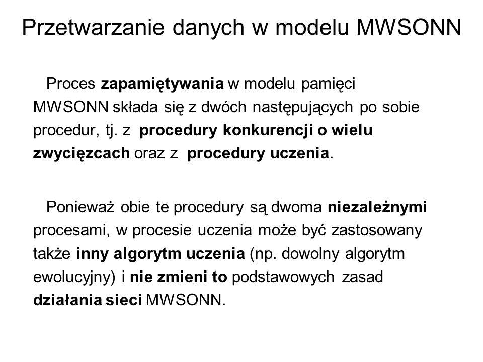 Przetwarzanie danych w modelu MWSONN