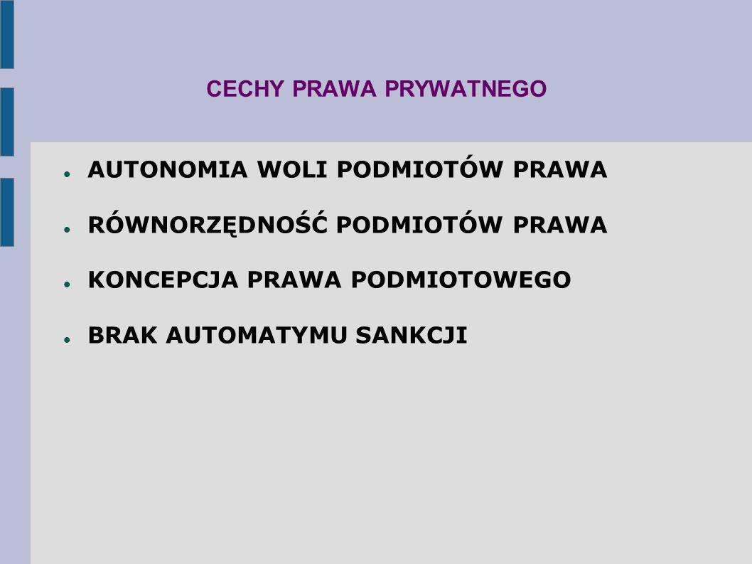 CECHY PRAWA PRYWATNEGO