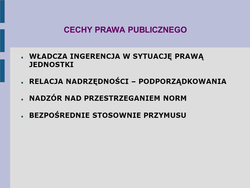 CECHY PRAWA PUBLICZNEGO
