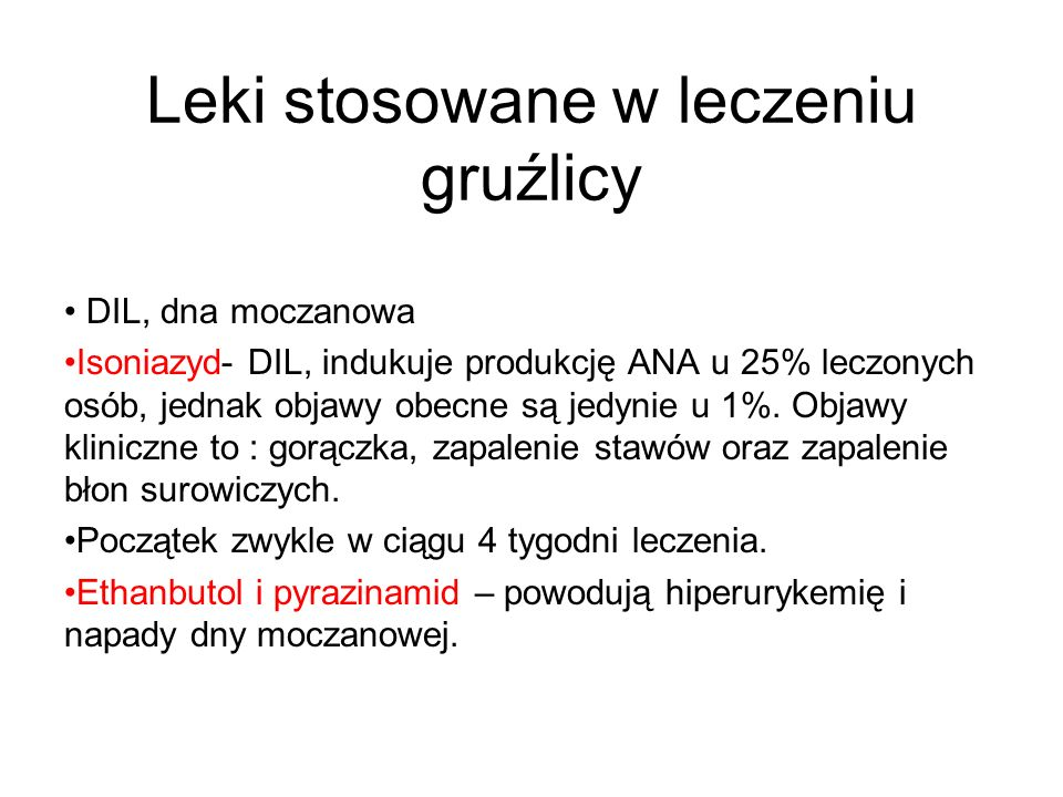 Leki stosowane w leczeniu gruźlicy