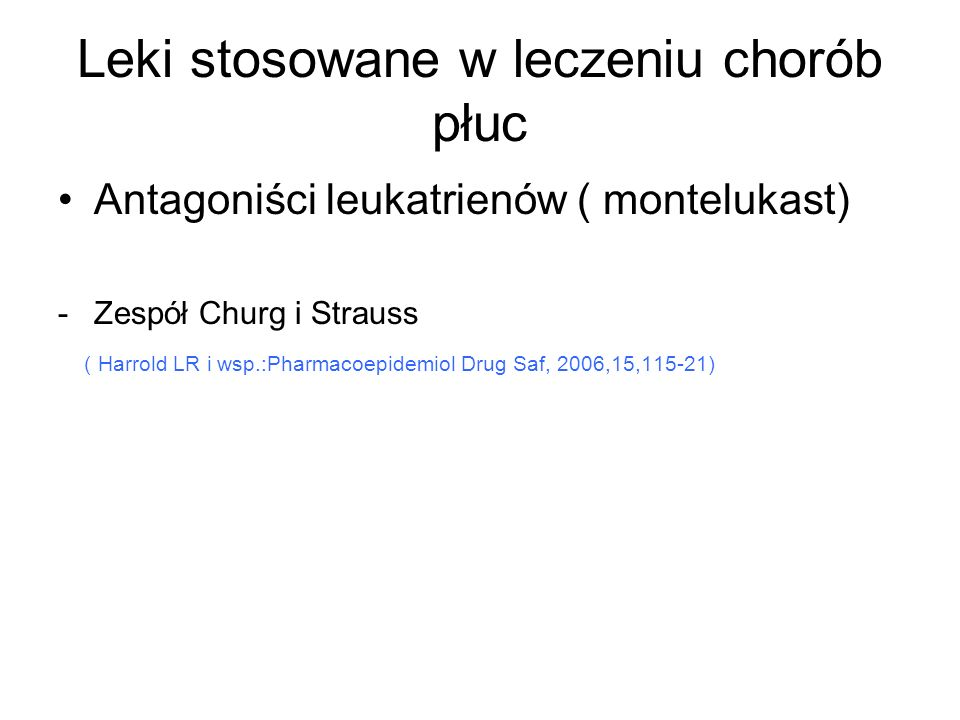 Leki stosowane w leczeniu chorób płuc