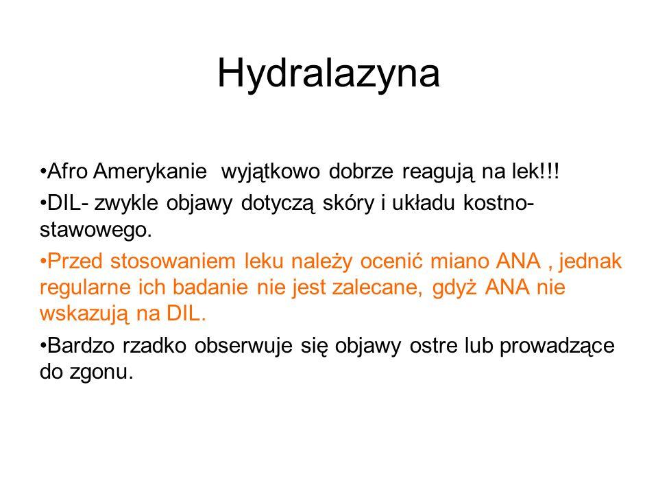 Hydralazyna Afro Amerykanie wyjątkowo dobrze reagują na lek!!!