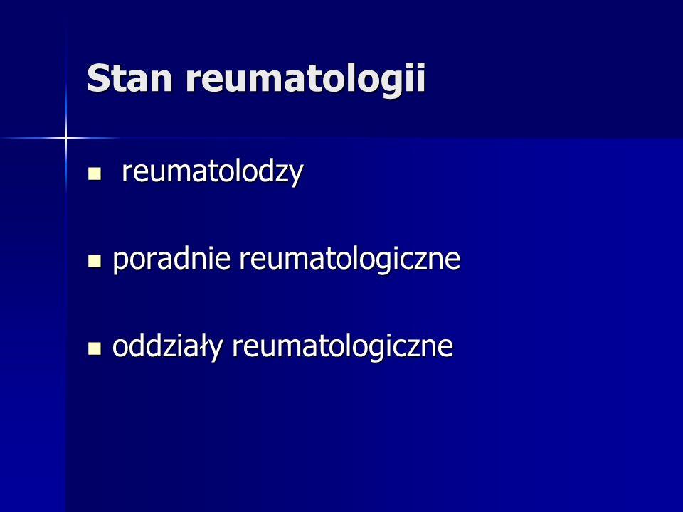 Stan reumatologii reumatolodzy poradnie reumatologiczne