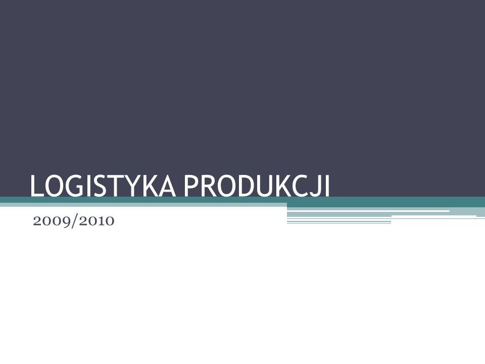 LOGISTYKA PRODUKCJI 2009/2010