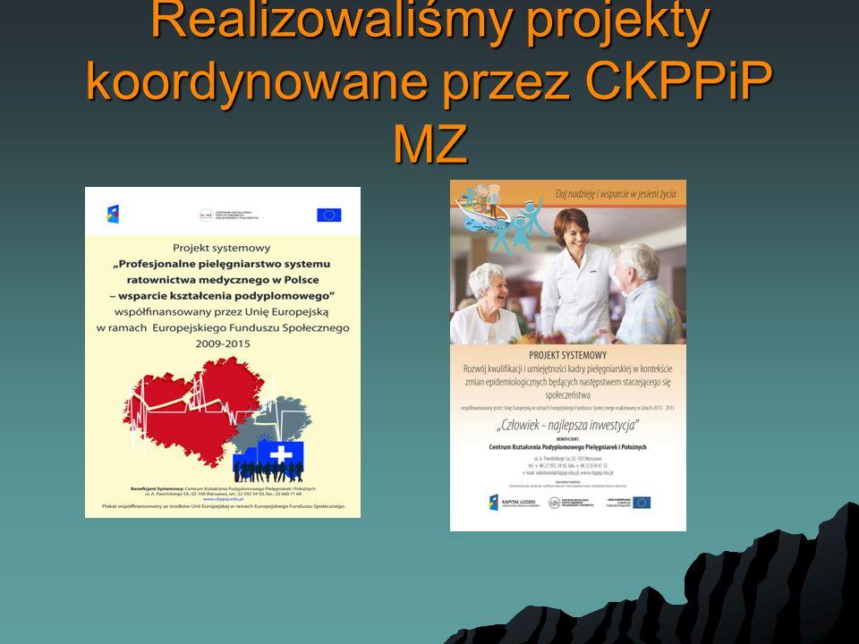 Realizowaliśmy projekty koordynowane przez CKPPiP MZ