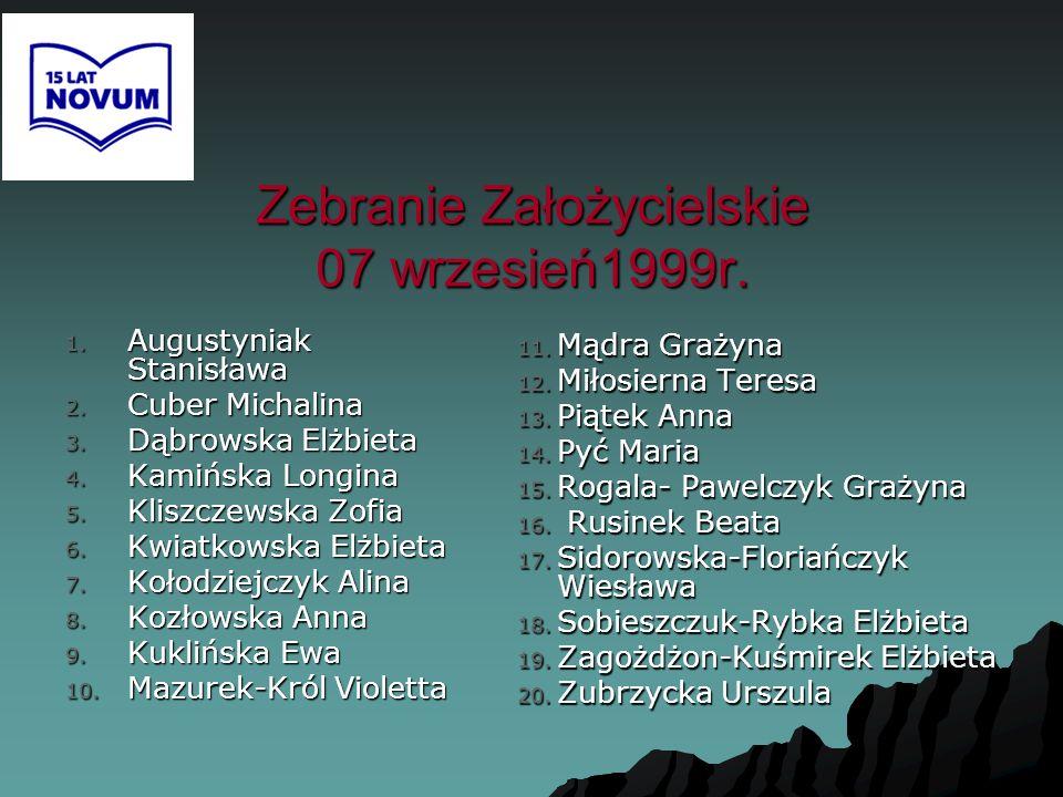 Zebranie Założycielskie 07 wrzesień1999r.
