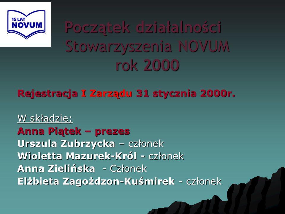 Początek działalności Stowarzyszenia NOVUM rok 2000