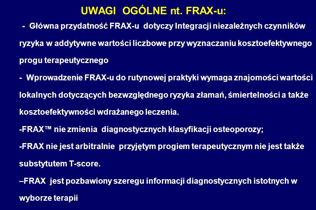 UWAGI OGÓLNE nt. FRAX-u: