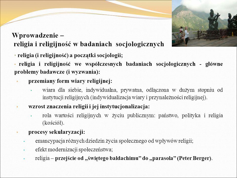 Wprowadzenie – religia i religijność w badaniach socjologicznych