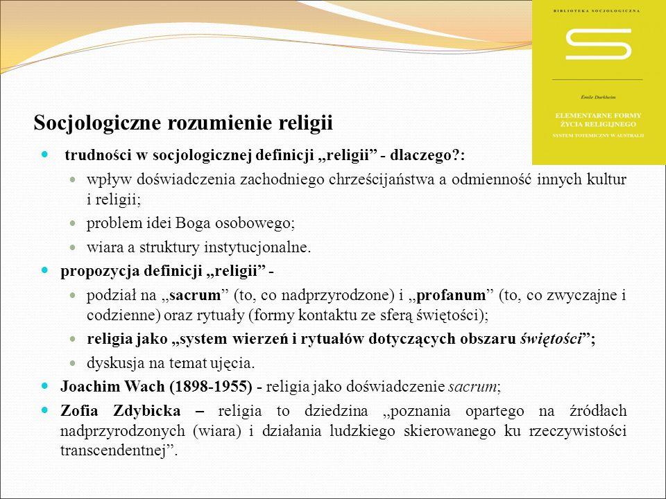 Socjologiczne rozumienie religii