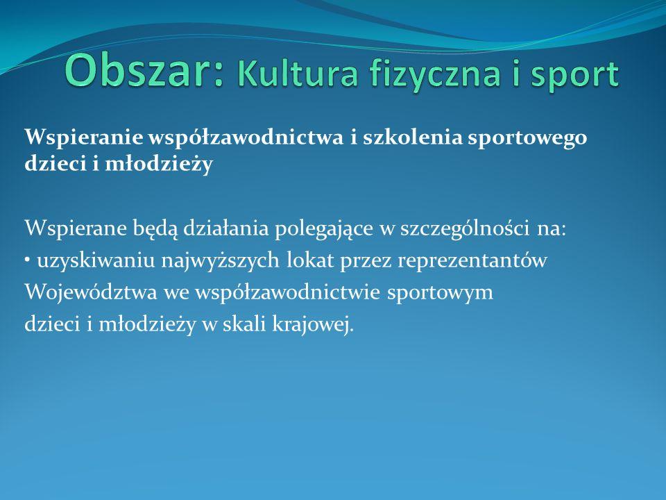 Obszar: Kultura fizyczna i sport