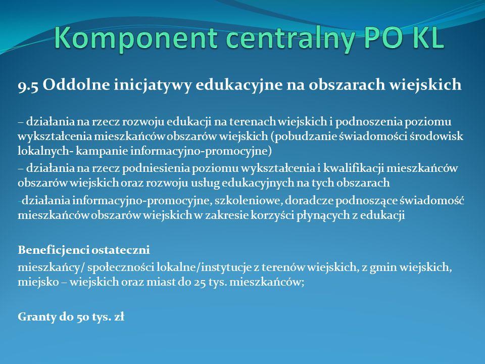 Komponent centralny PO KL