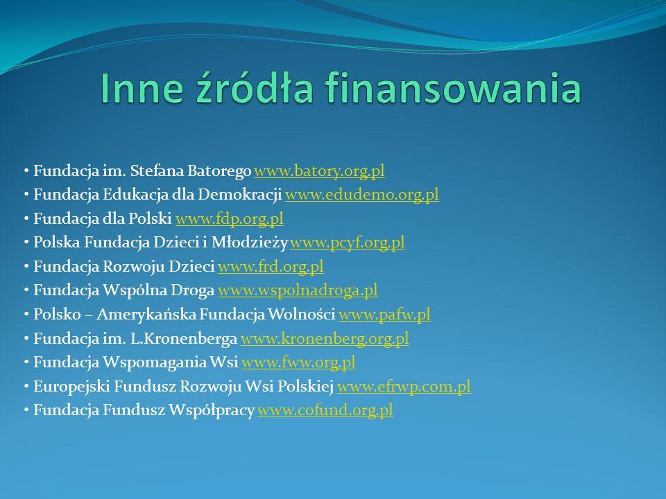 Inne źródła finansowania