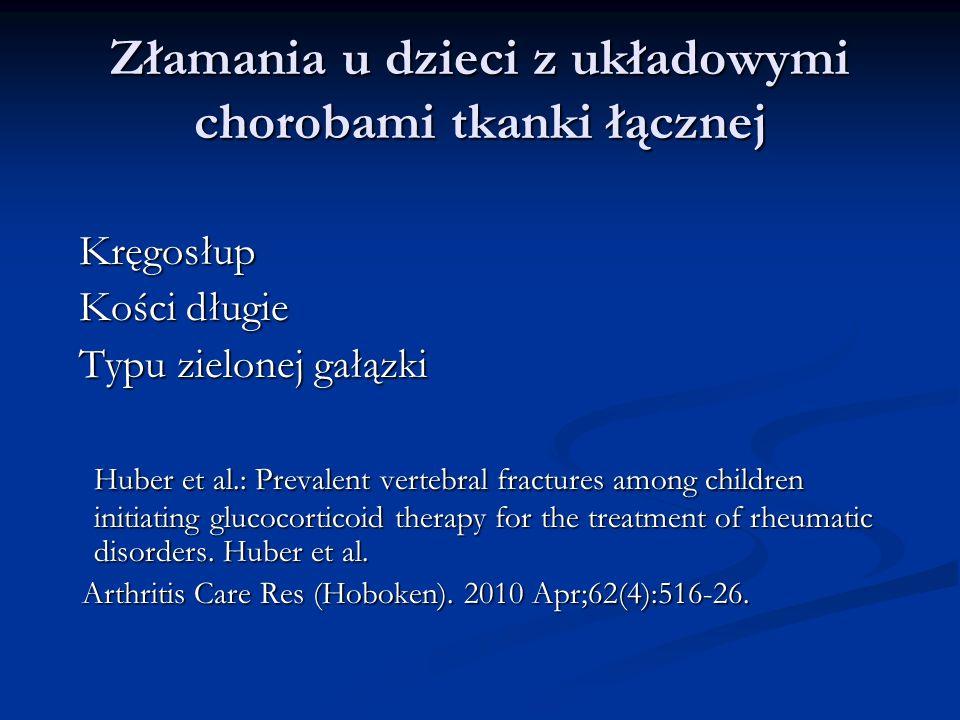 Złamania u dzieci z układowymi chorobami tkanki łącznej