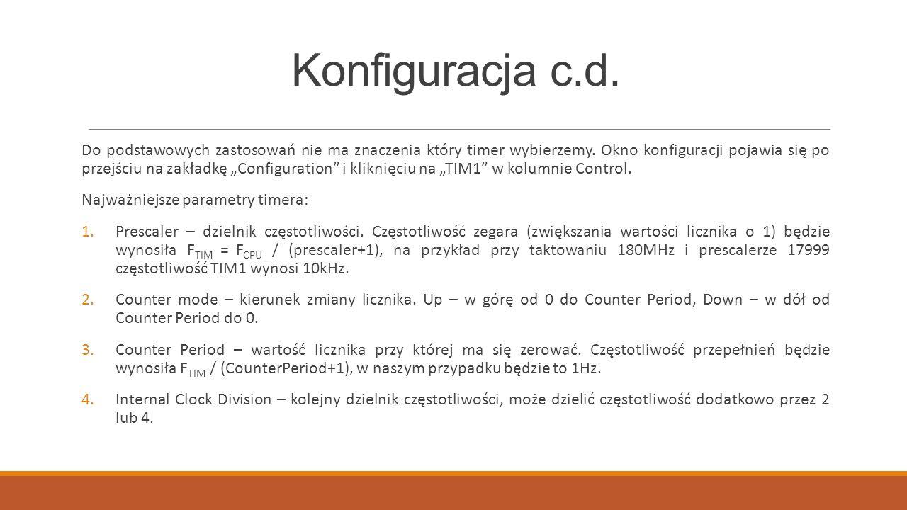 Konfiguracja c.d.