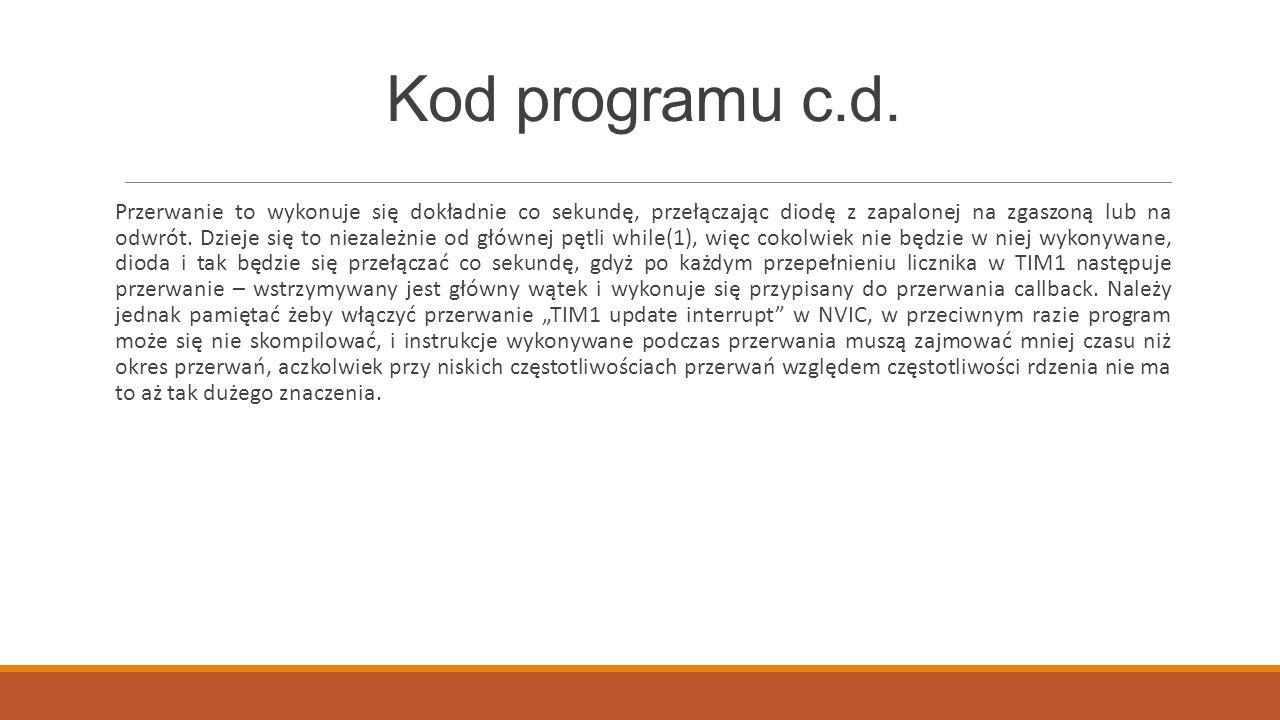 Kod programu c.d.