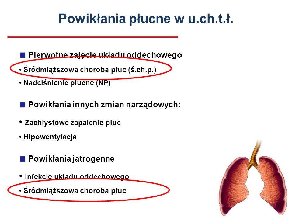 Powikłania płucne w u.ch.t.ł.