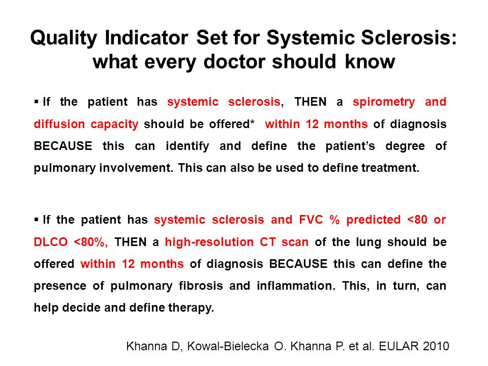Quality Indicator Set for Systemic Sclerosis: what every doctor should know