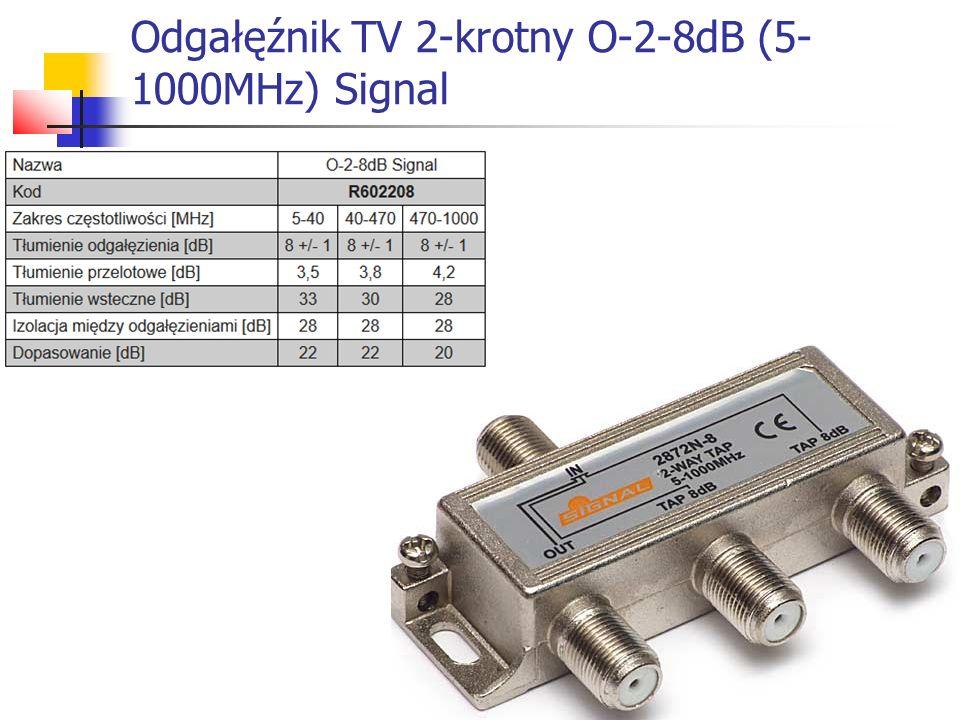 Odgałęźnik TV 2-krotny O-2-8dB (5-1000MHz) Signal