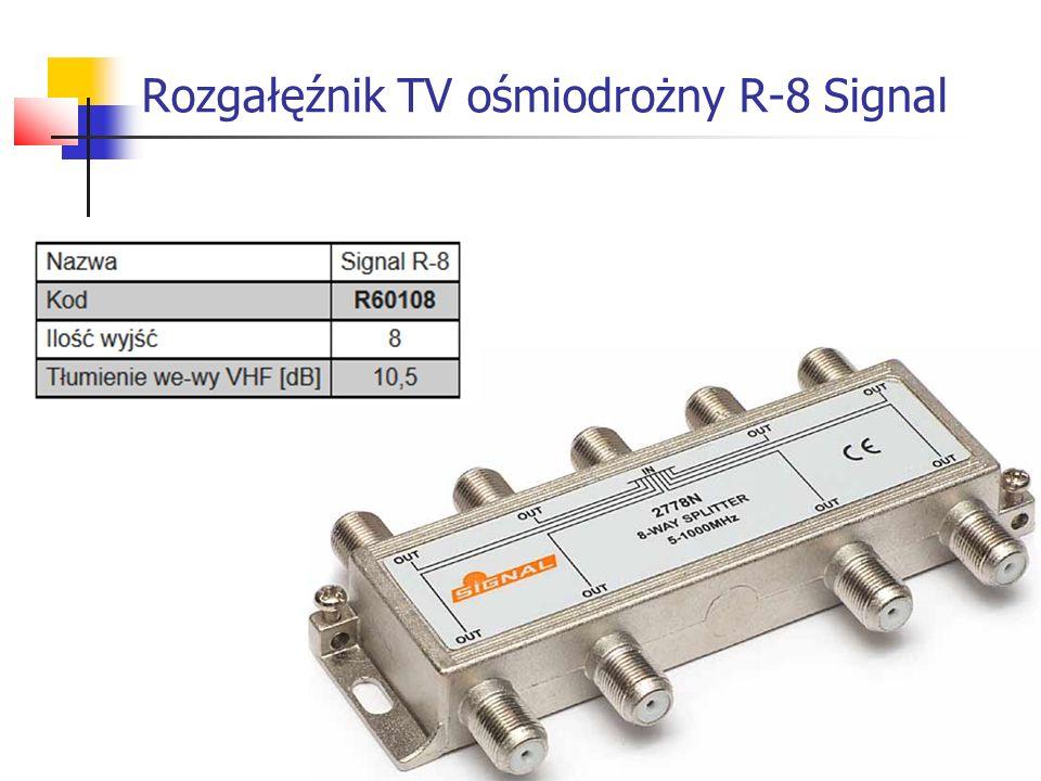 Rozgałęźnik TV ośmiodrożny R-8 Signal
