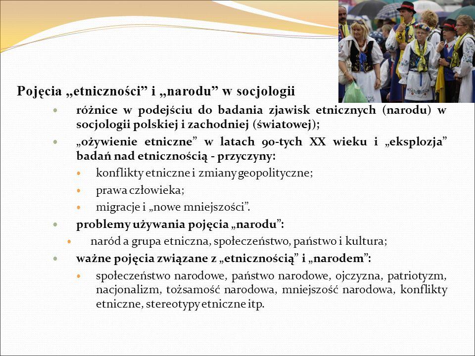 """Pojęcia """"etniczności i """"narodu w socjologii"""
