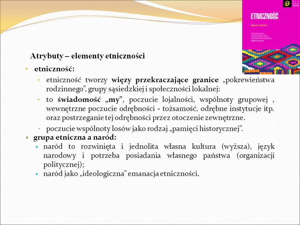 Atrybuty – elementy etniczności