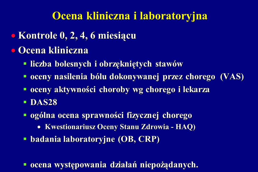 Ocena kliniczna i laboratoryjna