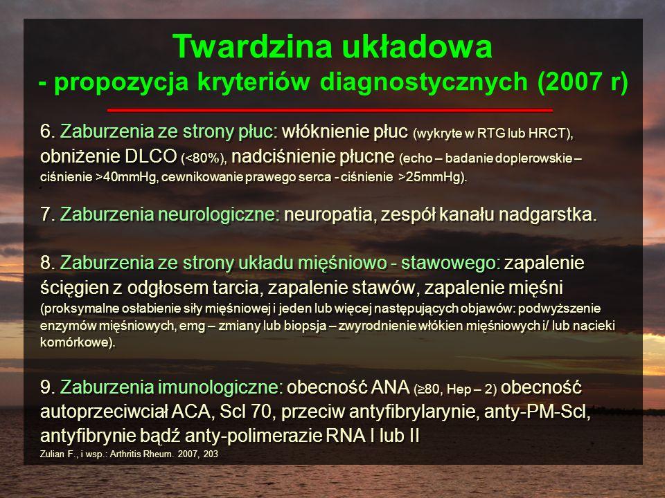 Twardzina układowa - propozycja kryteriów diagnostycznych (2007 r)