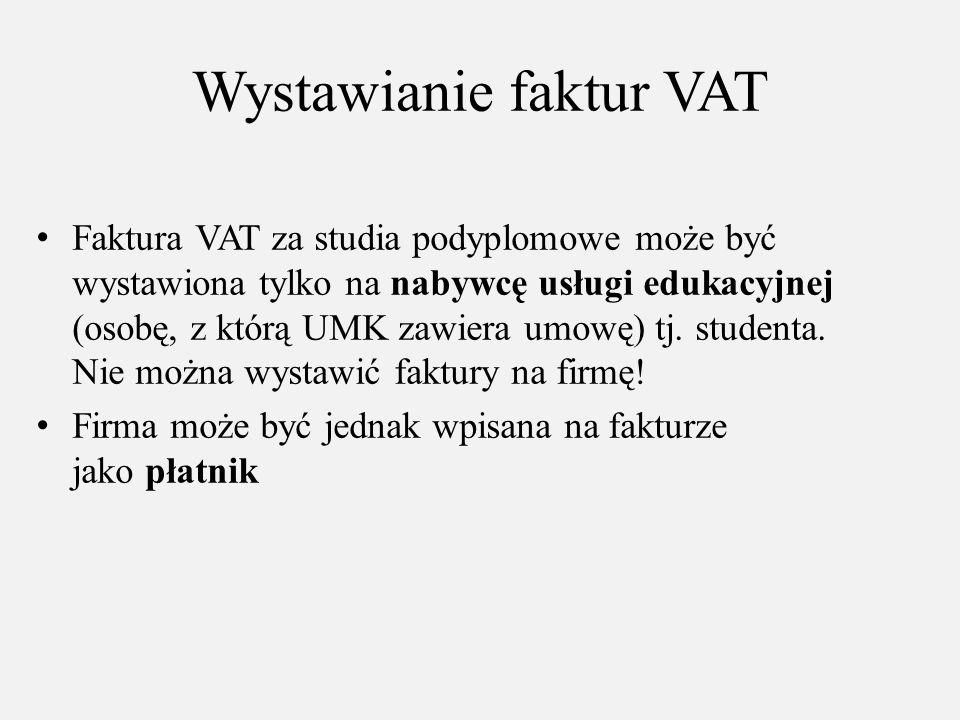 Wystawianie faktur VAT