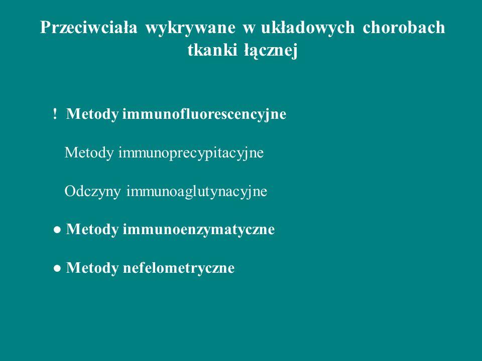 Przeciwciała wykrywane w układowych chorobach tkanki łącznej