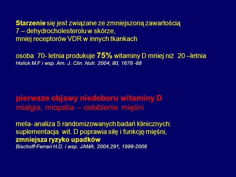 pierwsze objawy niedoboru witaminy D