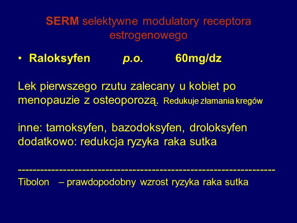 SERM selektywne modulatory receptora estrogenowego