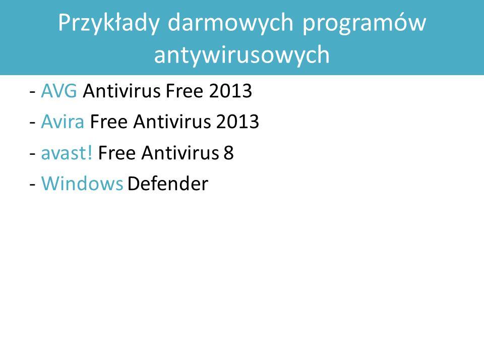Przykłady darmowych programów antywirusowych