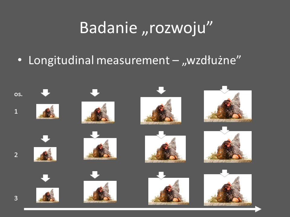 """Badanie """"rozwoju Longitudinal measurement – """"wzdłużne os. 1 2 3"""