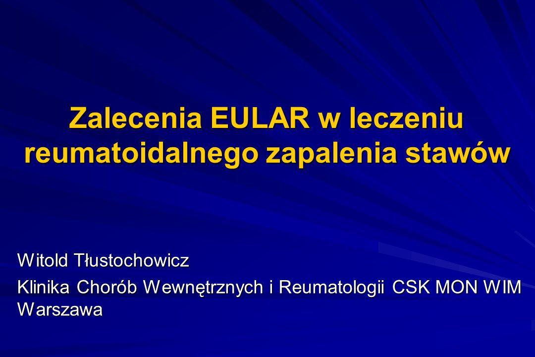 Zalecenia EULAR w leczeniu reumatoidalnego zapalenia stawów