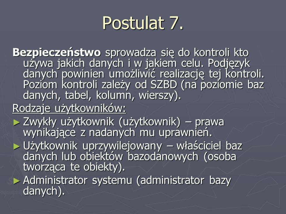 Postulat 7.