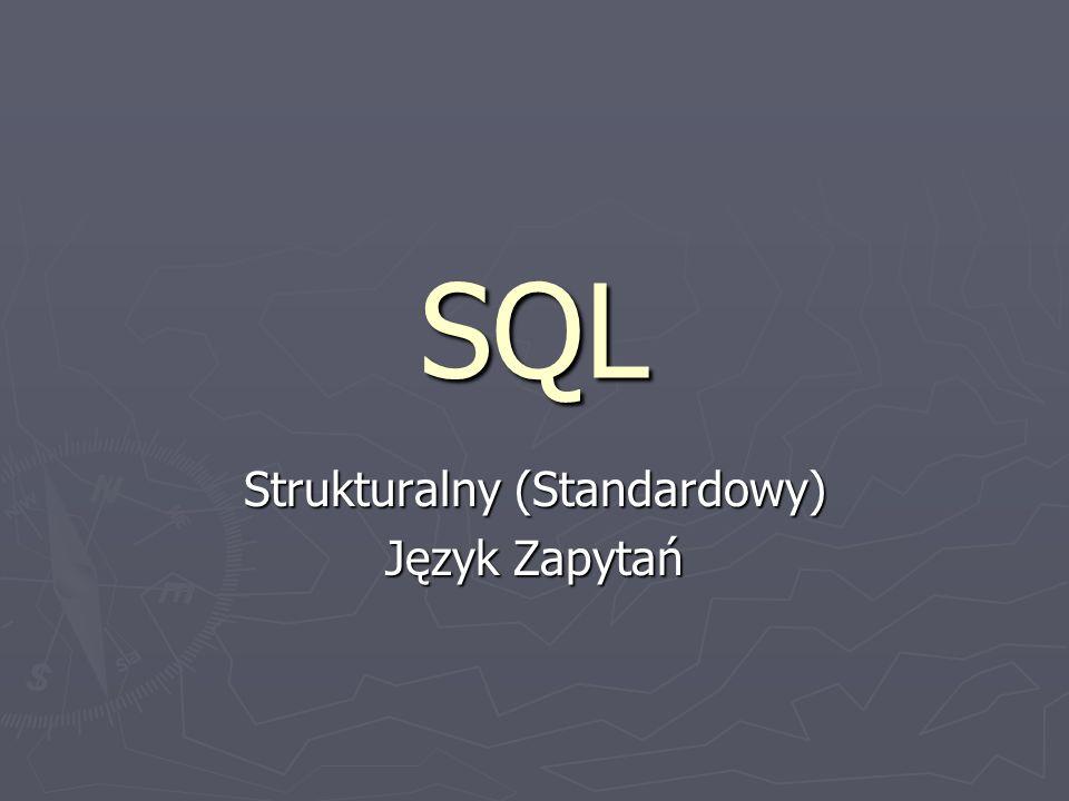 Strukturalny (Standardowy) Język Zapytań