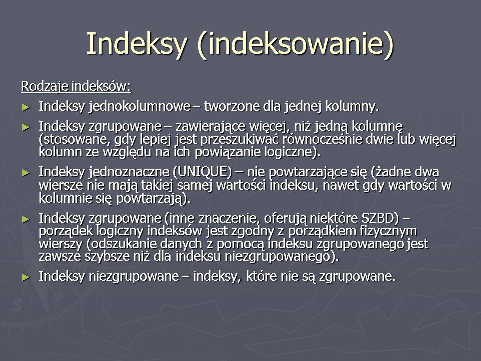 Indeksy (indeksowanie)