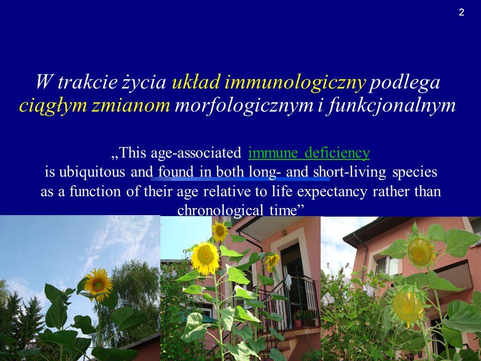 W trakcie życia układ immunologiczny podlega ciągłym zmianom morfologicznym i funkcjonalnym