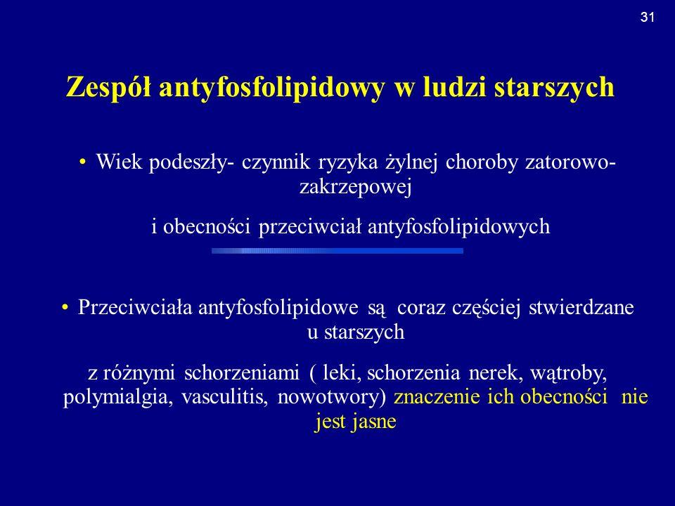 Zespół antyfosfolipidowy w ludzi starszych